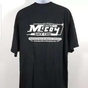 Andy McCoy Race T-Shirt Mens Sizs Large